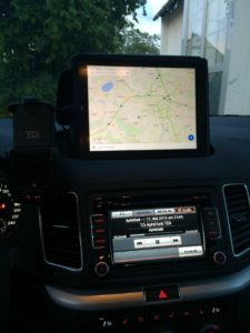 Das iPad als Navi bei Apfelfunk-Hörer Mirko