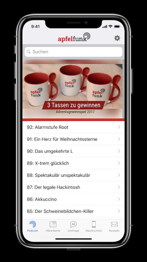 Funkgerät - die App zum Apfelfunk